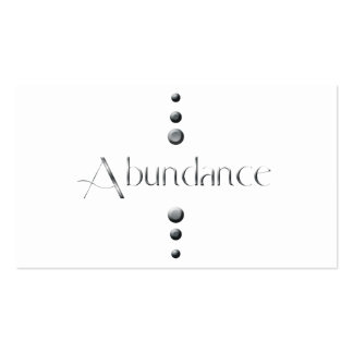 3 Dot Silver Block Abundance Pack Of Standard Business Cards