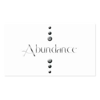 3 Dot Silver Block Abundance Pack Of Standard Business Cards