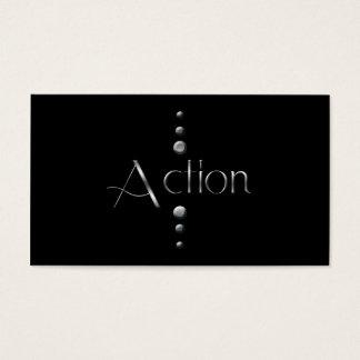 3 Dot Silver Block Action & Black Background