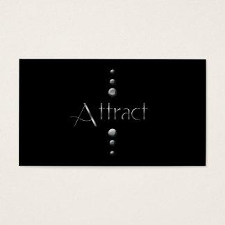 3 Dot Silver Block Attract & Black Background
