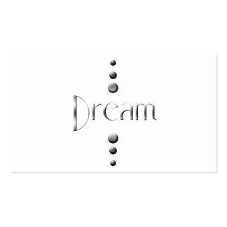 3 Dot Silver Block Dream Business Cards