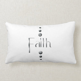 3 Dot Silver Block Faith Lumbar Cushion
