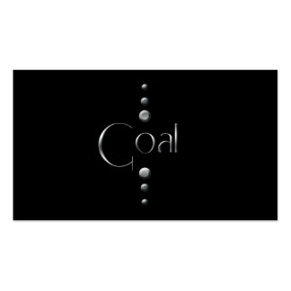 3 Dot Silver Block Goal & Black Background Business Cards
