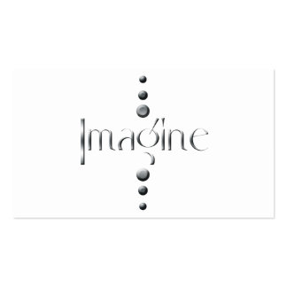 3 Dot Silver Block Imagine Pack Of Standard Business Cards
