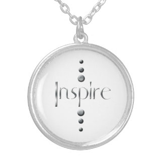 3 Dot Silver Block Inspire Silver Plated Necklace
