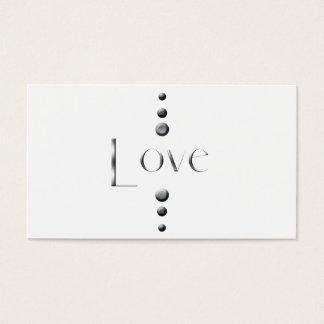 3 Dot Silver Block Love