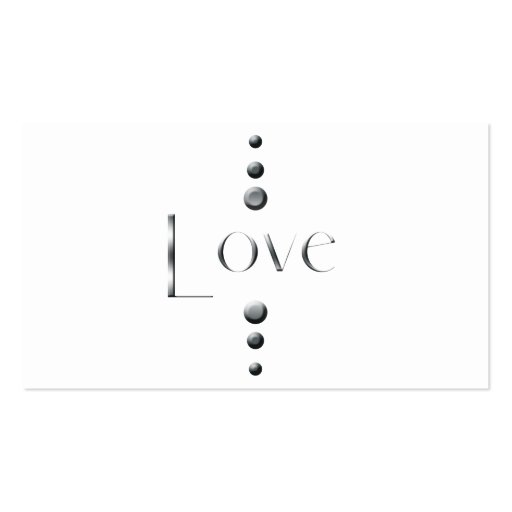 3 Dot Silver Block Love Business Cards