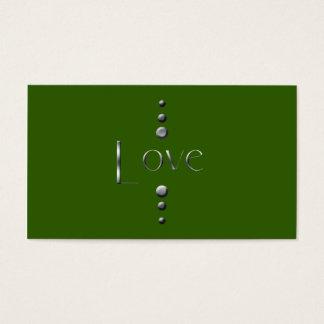 3 Dot Silver Block Love & Green Background