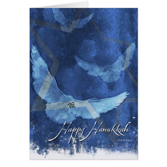 3 Doves-Hanukkah Greeting Card