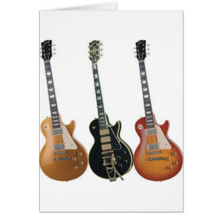 3 ELECTRIC GUITARS CARD
