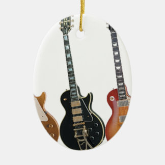 3 ELECTRIC GUITARS RETRO CERAMIC ORNAMENT