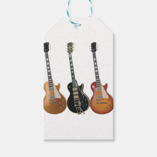 3 ELECTRIC GUITARS RETRO GIFT TAGS