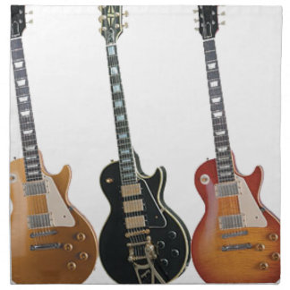 3 ELECTRIC GUITARS RETRO NAPKIN
