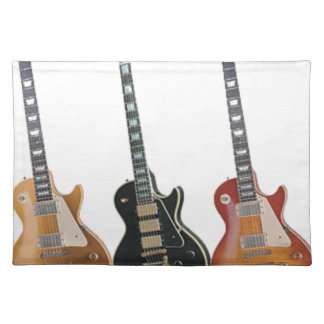 3 ELECTRIC GUITARS RETRO PLACEMAT