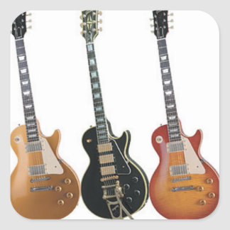 3 ELECTRIC GUITARS SQUARE STICKER