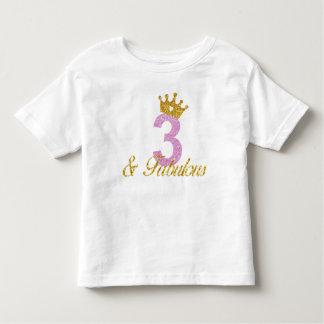 3 & Fabulous Birthday Shirt