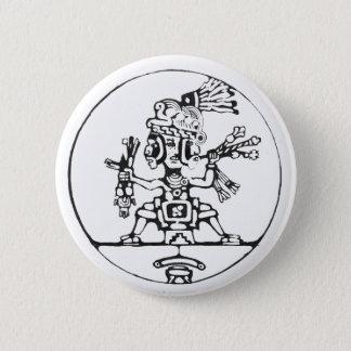3 Faced shaman black - Amazing Mexico Button