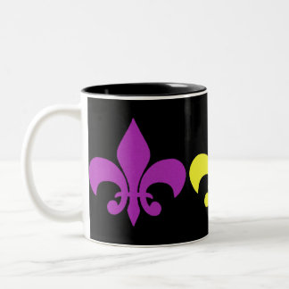 3 Fleur de Lis Two-Tone Coffee Mug