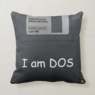 """3"""" floppy computer disk vintage throw pillow"""