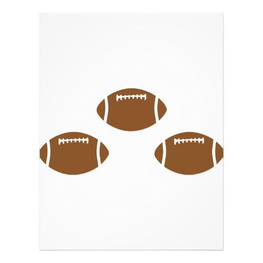 3 footballs custom flyer