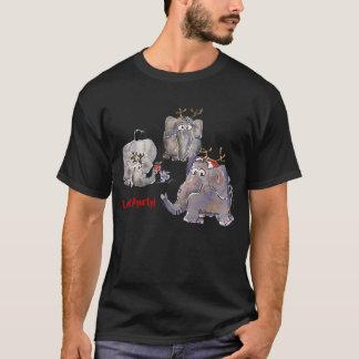 3 Funny Cartoon Elephants T-shirt