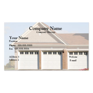 3 Garage Doors on house Pack Of Standard Business Cards