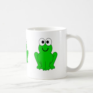 3 happy frogs coffee mug