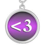 <3 ~ Heart Emoticon Purple Necklace