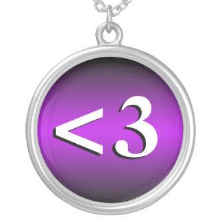 3 Heart Emoticon Purple Necklace