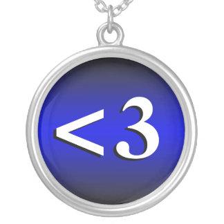 <3 ~ Heart Emoticon Royal Blue Necklace