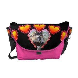 3 Hearts Heart Breaker neon sign Courier Bag