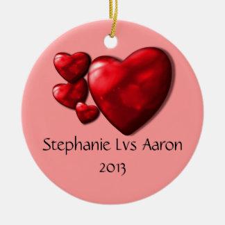 3 hearts ornament
