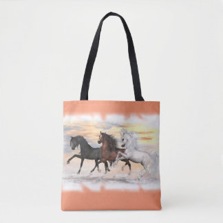 3 Horses All-Over-Print Tote Bag, You Customise