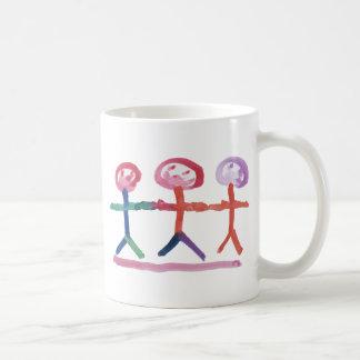 3 Human Beings Basic White Mug