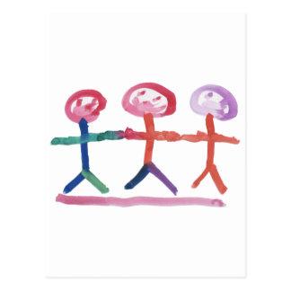3 Human Beings Postcard