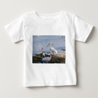 3 Ibis on the shore of Florida Bay Baby T-Shirt