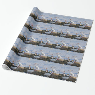 3 Ibis on the shore of Florida Bay Wrapping Paper