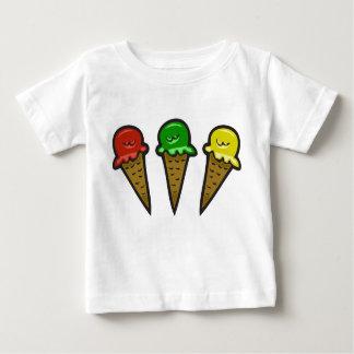 3 Ice Cream Cones #3 Baby T-Shirt