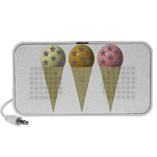 3 ice cream cones doodle speaker