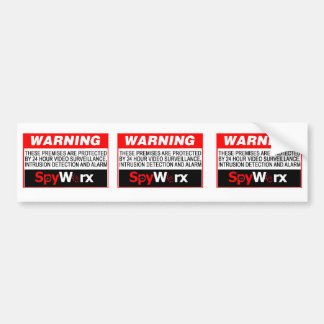 3 in 1 Fake Alarm System Sticker for your home! Bumper Sticker