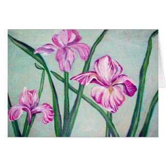 3 Irises- card