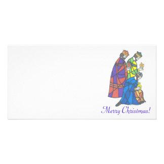 3 kings, Merry Christmas! Photo Card Template