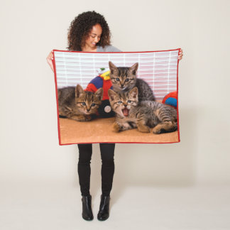 3 Kitties Fleece Blanket