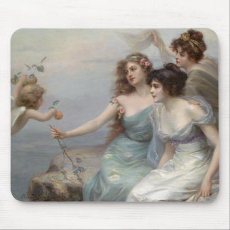 3 Ladies and Angel Mouse Pads