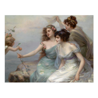 3 Ladies and Angel Postcard