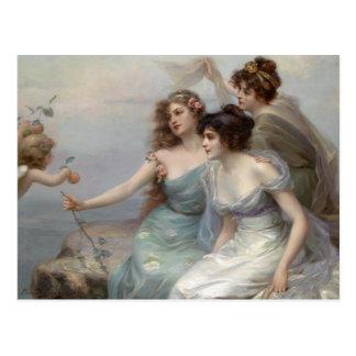 3 Ladies and Angel Postcard