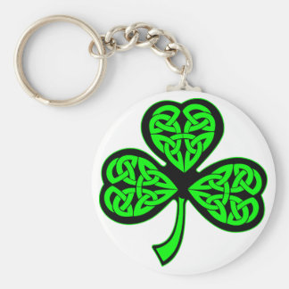 3 Leaf Celtic Shamrock Key Ring