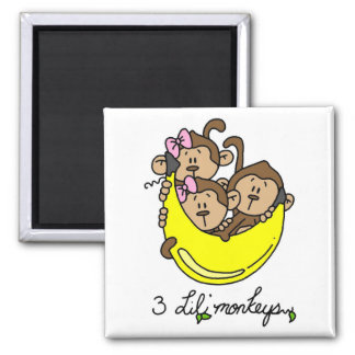 3 Li'l Monkeys Tshirts and Gifts Magnet