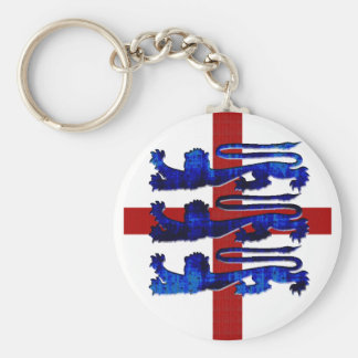 3 lions England St George's flag gifts Key Ring