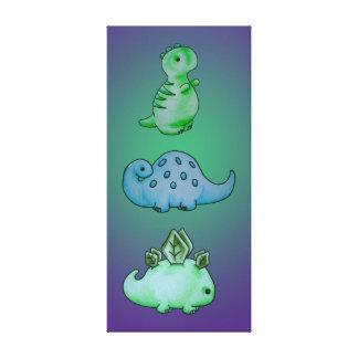 3 Little Dinos Canvas Print
